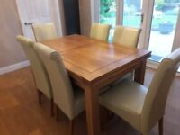 6 set extending Dining table & chairs