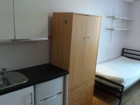 Single room with private shower for students