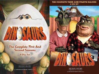 Dinosaurs TV Show Complete Series 1-4 DVD Jim Henson Brand New 1 2 3 4