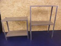 2 X Steel Shelving Units, 85x60x28cm + 60x60x28, Storage, Workshop, DIY, Office