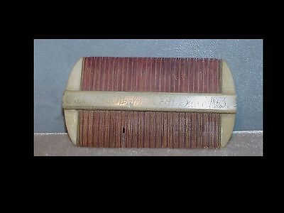 Unusual signed & dated 1863 COMB Sailors Whimsey Maritime folk art