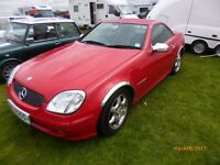 Mercedes 2001 SLK 200 Kompressor low mileage 57K full mot