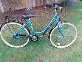 """Ladies 26"""" Sturmey Archer 3 Speed bicycle with sidestand."""