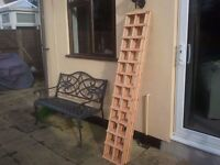 BRAND NEW (BARGAIN)TREATED GARDEN TRELLIS X 4 PIECES 6FT X 1FT COLLECTION ONLY FROM MALDON IN ESSEX