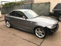 2010 59 BMW 123D M-SPORT 6 SPEED 59K MILES FSH LIGHT DAMAGE/SALVAGE REPAIRABLE