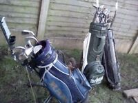 3 bags 24clubs and a stand