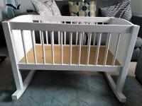 Lovely white wooden crib by JoJo Maman Bebe