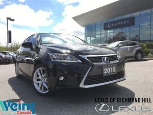 2015 Lexus CT 200h TECH/NAV PKG/ONLY 11 KMS!