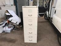White Metal 4 Drawer Cabinet