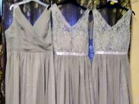 Bridesmaids grey dress