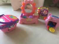 Girls toys VTECH AND FISHERPRICE LEAPFROG