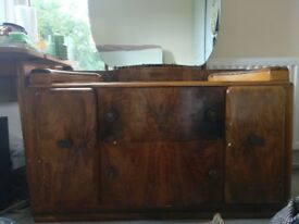 Beautiful Period Art Deco Vanity Chest/Dresser/Cabinet with huge Mirror