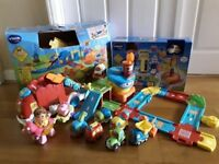 JOBLOT: Vtech Toot Toot: Police Station / Train Station / Airport / Transporter Truck / Vehicles....