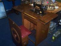 Vintage Noble Sewing Machine & Work Station