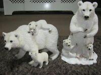 2 Polar Bear Ornaments
