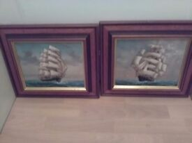 Oil paintings x 2 signed originals on canvas