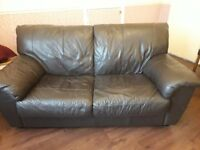 brown leather 2 seater sofa for sale