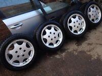 Porsche 928 club sport / 944 turbo silver rose FORGED alloys -super rare !!!!