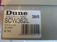 LADIES SHOES: DUNE SANDALS Size 38/5uk TAN Boxed 0902