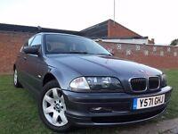 BMW 3 Series 2.2 320i SE 4dr p/x welcome 2001 (Y reg), Saloon 137,000 miles Manual 2171cc Petrol