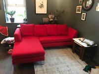 Lovely modern chaise corner sofa for sale