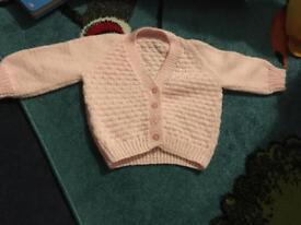 Hand knitted cardigan