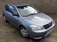 ONE OWNER CAR! 2002 TOYOTA COROLLA VVTI T3 1.4 3DR- FULL DEALER SERVICE HISTORY -SPOTLESS CONDITION