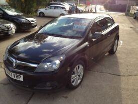 57 PLATE VAUXHALL ASTRA 1.6 SXI 3DR 69000MILES BLACK £2850