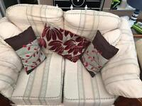Free a 3 seater, 2 seater sofas, chair and storage foot stool