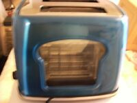 BLUE WINDOW 2 SLICE TOASTER (Brand New & Boxed)