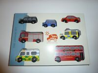 Le Toy Van London Set of painted wooden toys.
