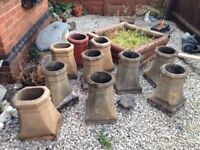 10 large Victorian chimney pots ABSOLUTE BARGAIN
