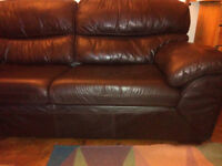 Ground floor, so easy access, almost brand new leather sofa.
