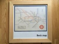 London Underground Harry Beck Map Framed Print