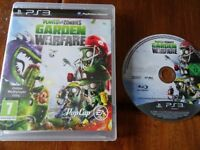 PLAYSTATION 3 GAME FOR SALE PLANTS VS ZOMBIES GARDEN WARFARE excellent condition