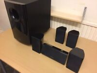 Onkyo 5.1 Home Cinema Active Subwoofer and 5 Speakers, High Quality Sound, Fully Working Condition.