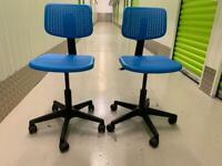 Two IKEA kids desk chairs
