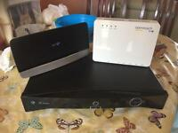 Bt vision top box and hub including control