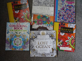 7 ADULT COLOURING BOOKS ALL NEW GREAT XMAS PRESENTS