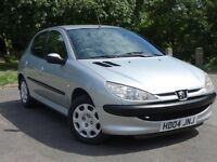2004 Peugeot 206 Automatic Auto, Warranty, service history,Ideal 1st car cheap insurance/tax/fuel