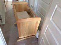 Kiddicare Gliding baby crib, swings, cot, nursery