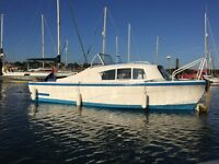 Seamaster 17 Cab Day Boat Project On the Water No Engine, has Cabin and Cover