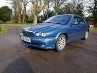 JAGUAR X-TYPE 2.5 V6 SE 4d AUTO 195 BHP (blue) 2001