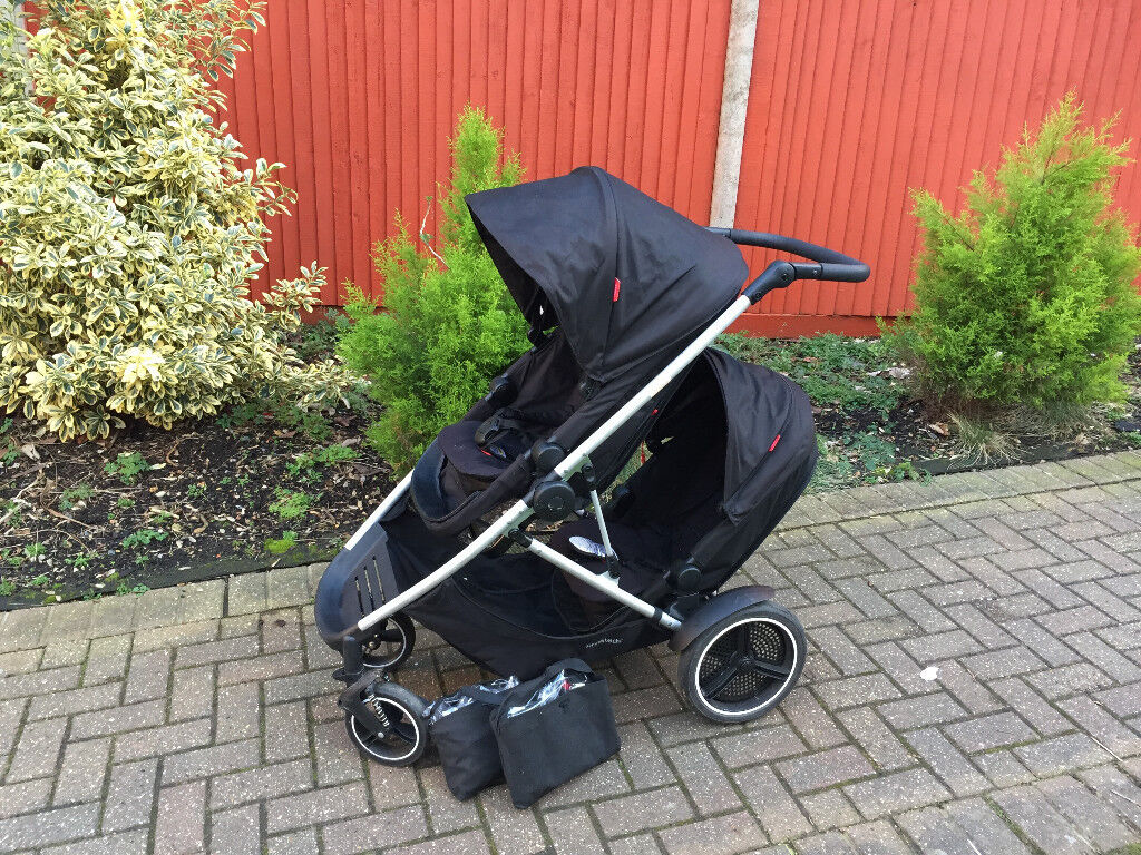 phil & teds voyager double pram buggy stroller