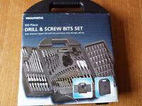 NEW - 100 Piece Drill & Screw Bits Set, Titanium Tipped HSS Drill Bits.Unwanted Gift
