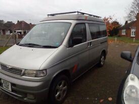 Mazda Bongo 2WD auto pop top 8 seater day camper