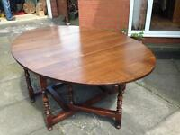 LARGE 6ft Oak Dining Table 2 drawers seats 8 - 10 top re french polished,clean beautiful condition