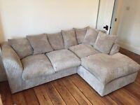 Nearly new beige corner sofa