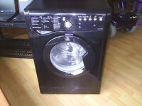 INDESIT BLACK 8 KG WASHING MACHINE IWE81281K fully reconditioned, free local delivery available