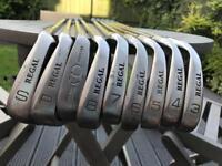 Full set of golf irons 3-9 plus wedges